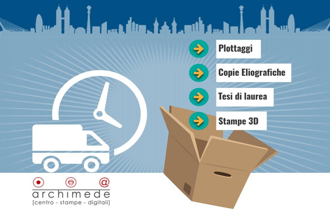 Spedizione Plottaggi tesi di laurea e stampe 3d in tutta italia